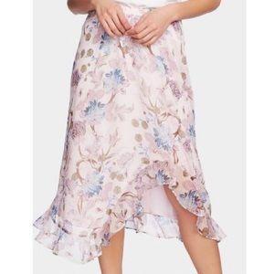 Floral Asymmetrical Maxi Skirt